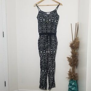 Magazine | Black and White Patterned Jumpsuit XS